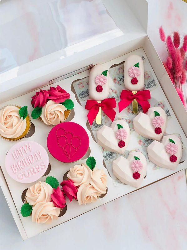 Bespoke Cupcakes Pink White Wedding